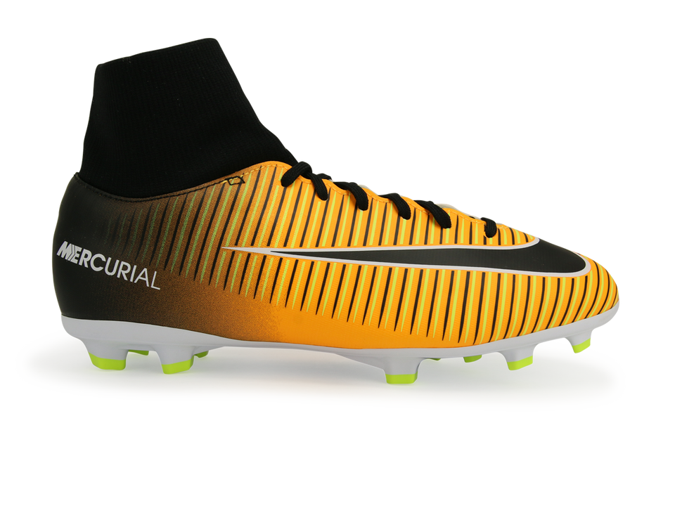Nike Kids MercurialX Victory VI Dynamic Fit FG Laser Orange/Black/White/Volt