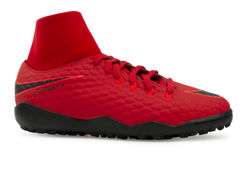 Nike Kids HypervenomX Phelon 3 DF Turf Soccer Shoes University Red