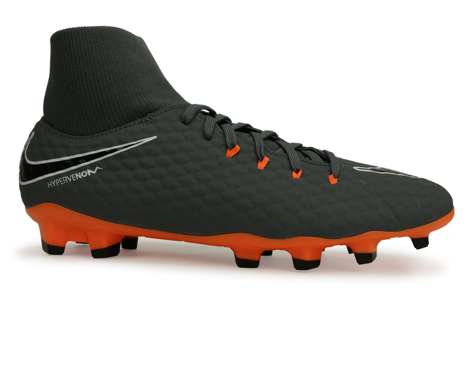 Nike Men's Hypervenom Phantom 3 Acaemy DF FG Dark Grey/Total Orange/White