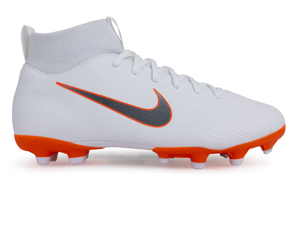 Nike Kids Mercurial Superfly VI Academy GS MG White/Metallic Cool Grey/Total Orange