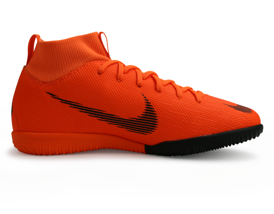 Nike Kids SuperflyX VI Academy GS Indoor Soccer Shoes Total Orange/Black