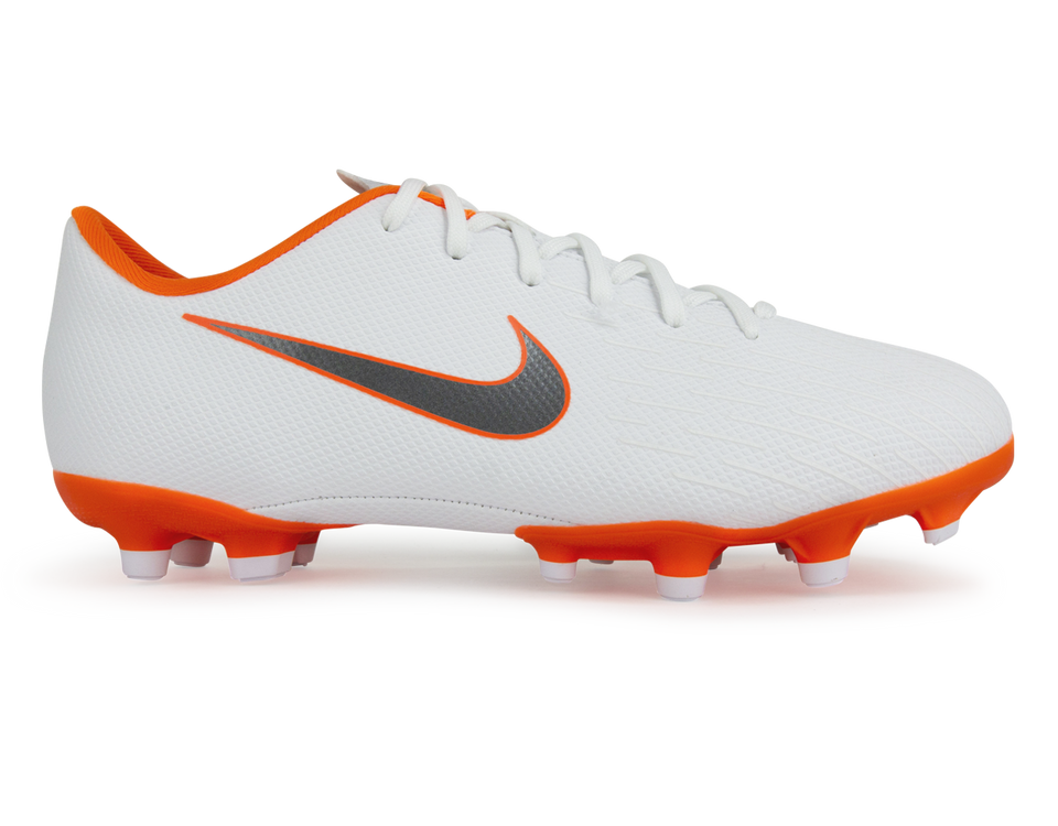 Nike Kids Mercurial Vapor 12 Academy GS MG White/Metallic Cool Grey/Total Orange