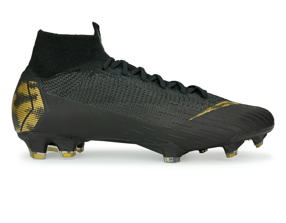 Nike Men's Mercurial Superfly 6 Elite FG/MG Black/Metallic Gold