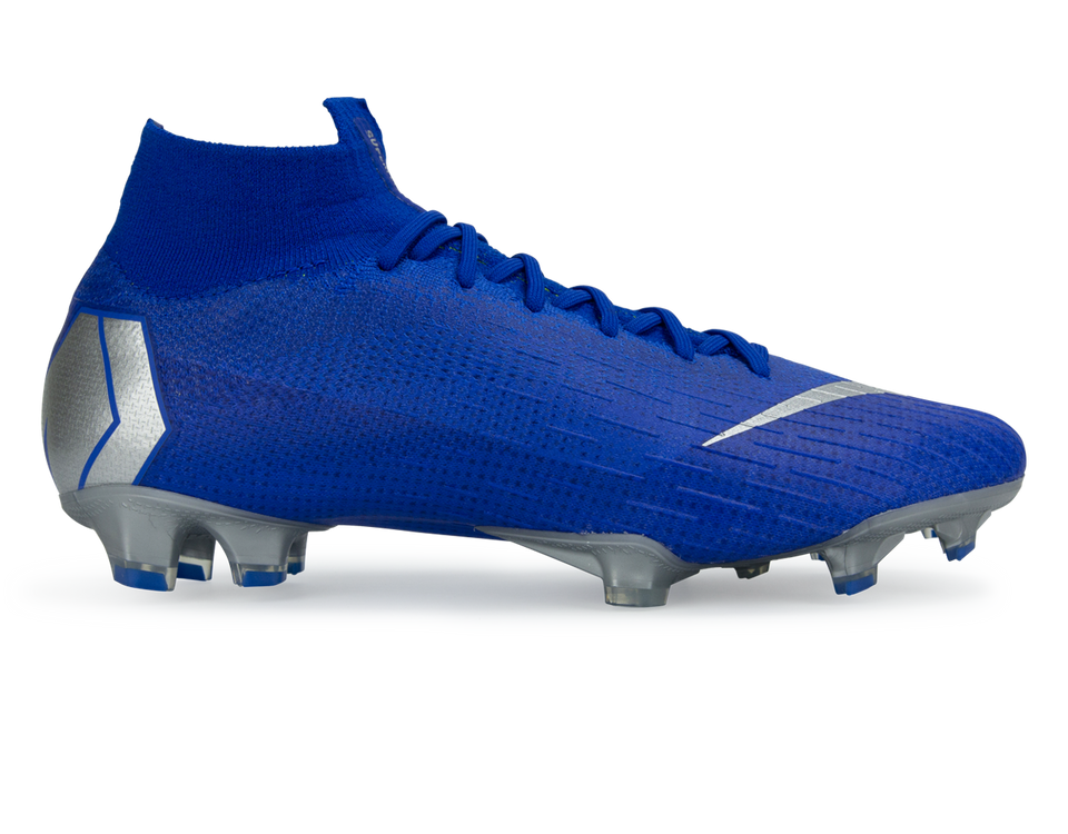 Nike Men's Mercurial Superfly 6 Elite FG Racer Blue/Metallic Silver