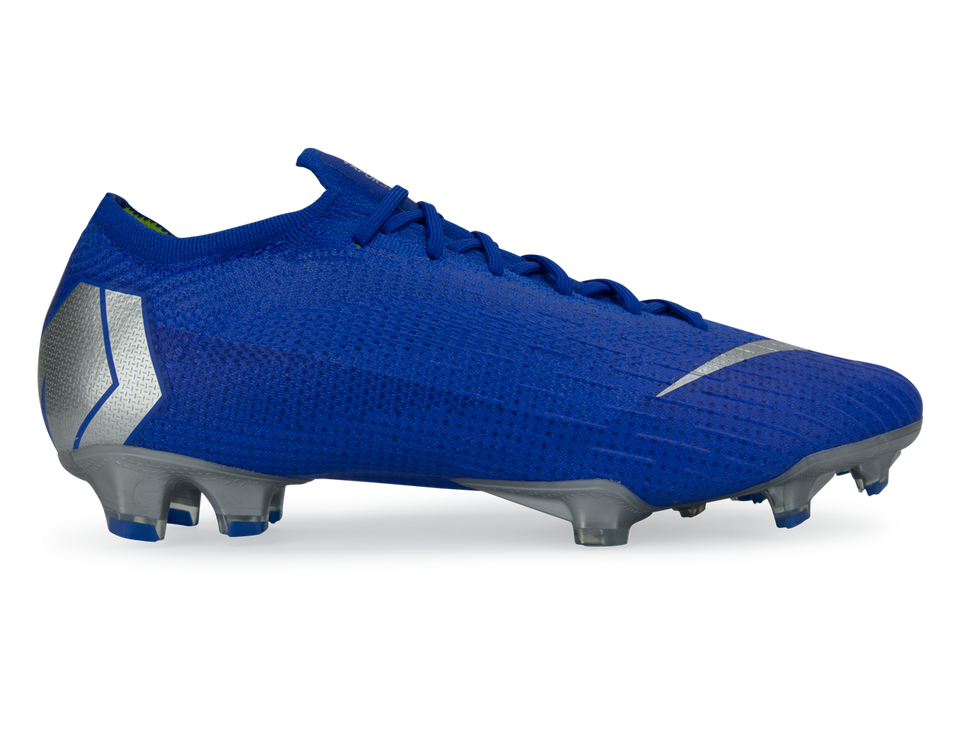 Nike Men's Mercurial Vapor 12 Elite FG Racer Blue/Metallic Silver