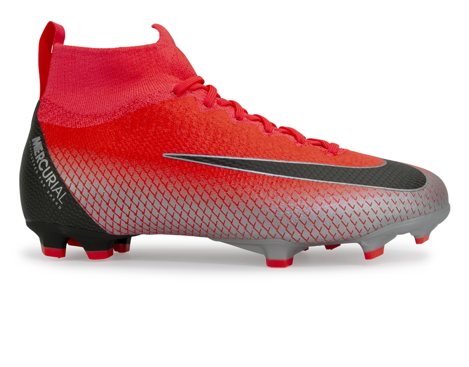 Nike Kids Mercurial CR7 Superfly 6 Elite FG Bright Crimson/Black