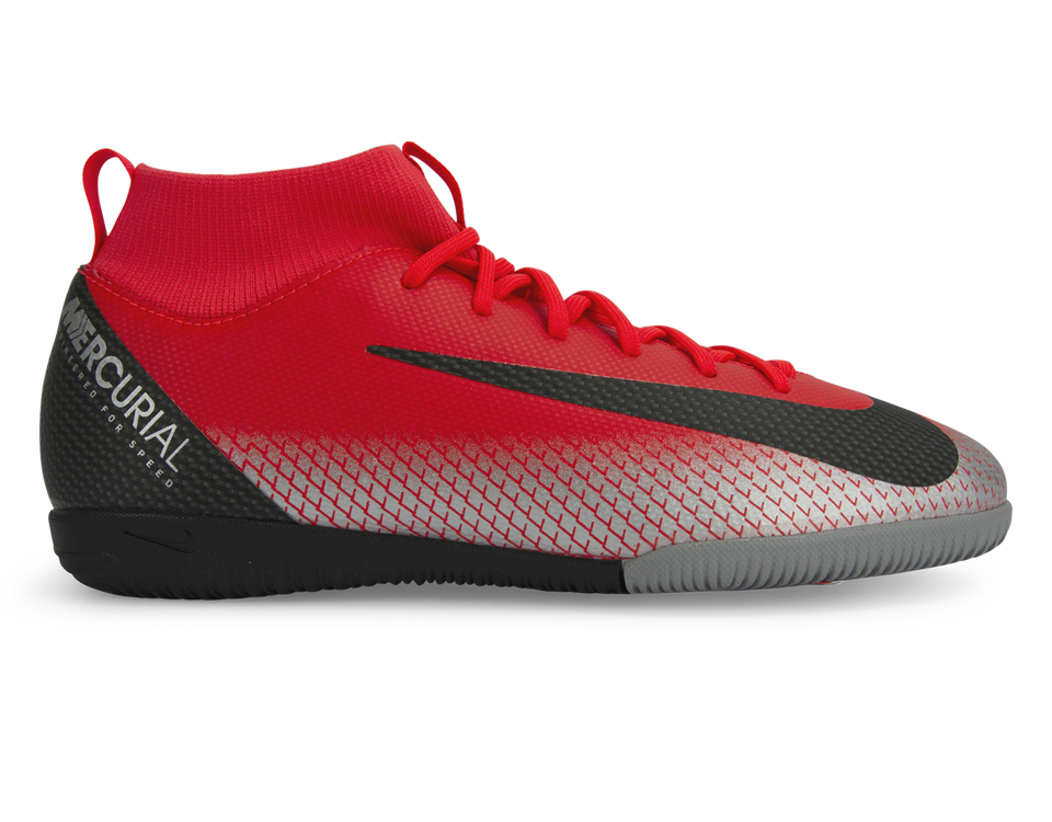 Nike Kids Mercurial CR7 Superfly 6 Academy GS Indoor Soccer Shoes Bright Crimson/Black