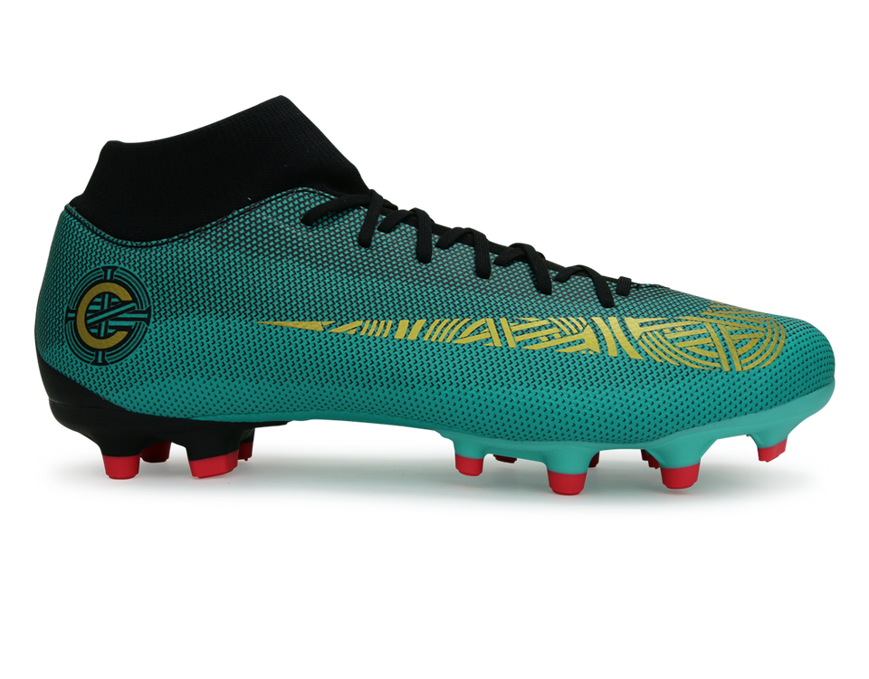 Nike Men's  Mercurial Superfly 6 Academy CR7 FG/MG Clear Jade/Black/Hyper Turquoise