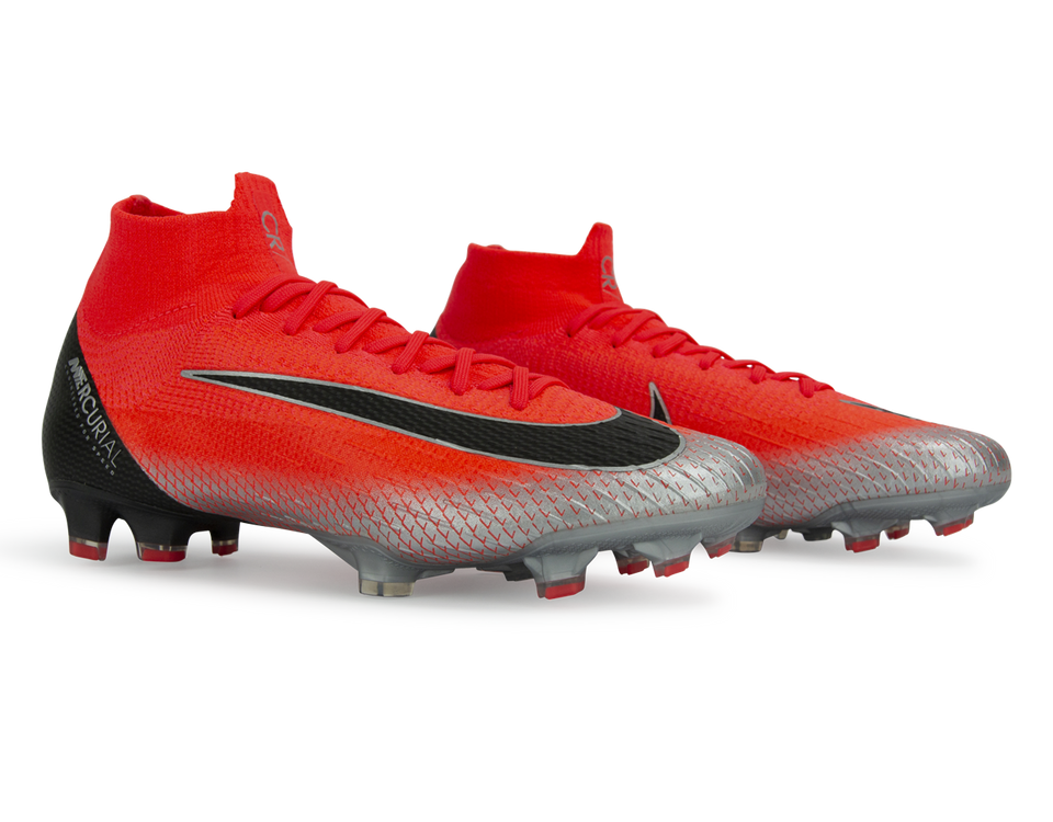Nike Men's Mercurial CR7 Superfly 6 Elite FG Bright Crimson/Black