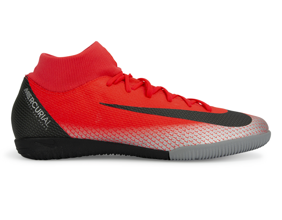 Nike Men's Mercurial CR7 SuperflyX 6 Academy Indoor Soccer Shoes Bright Crimson/Black