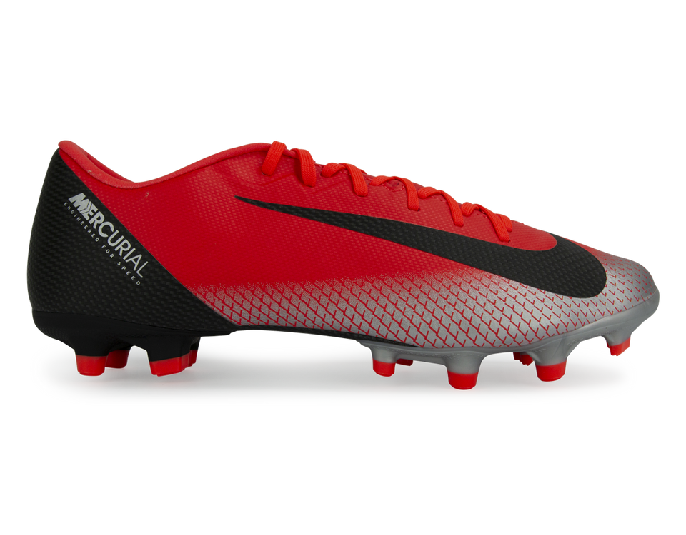 Nike Men's Mercurial CR7 Vapor 12 Academy FG/MG Bright Crimson/Black