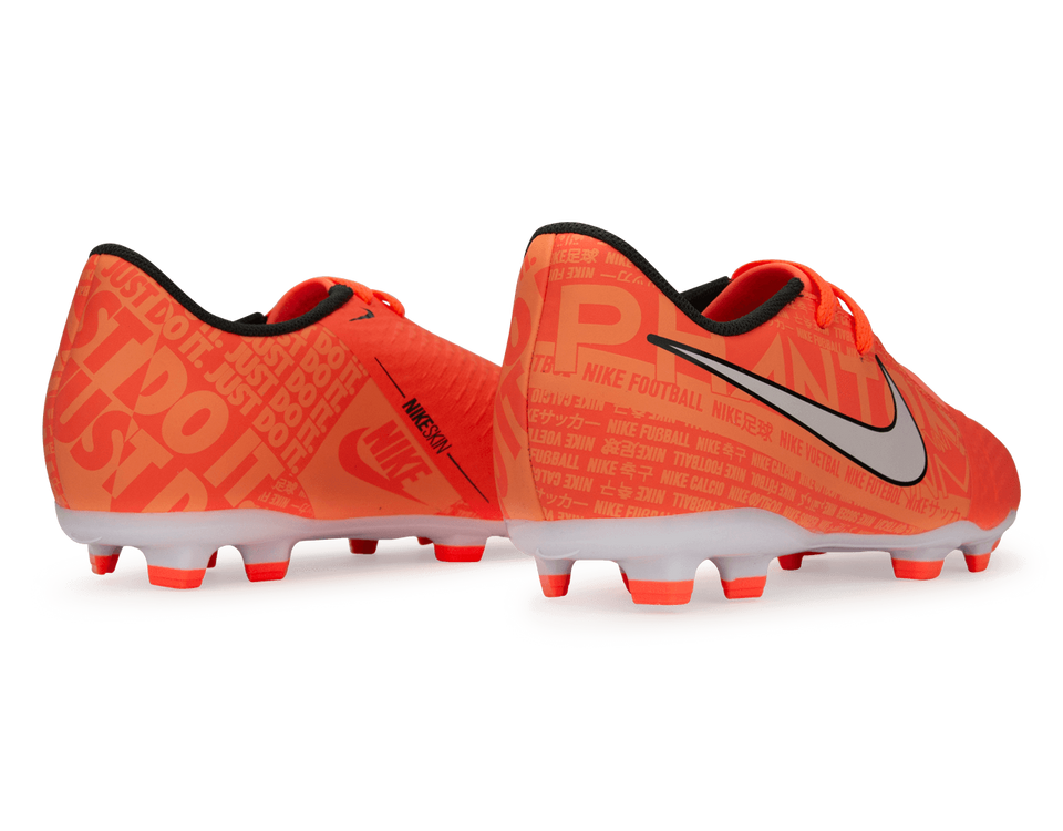 Nike Kids PhantomVNM Academy FG Bright Mango/White/Orange Pulse