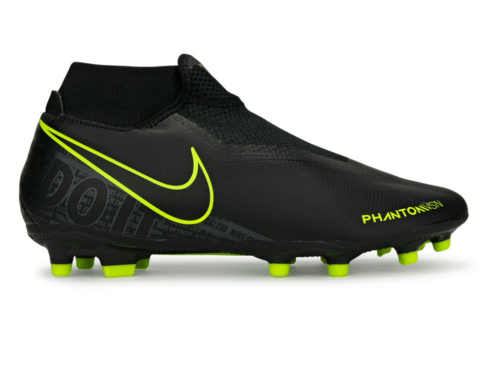 Nike Men's PhantomVSN Academy DF FG/MG Black/Volt