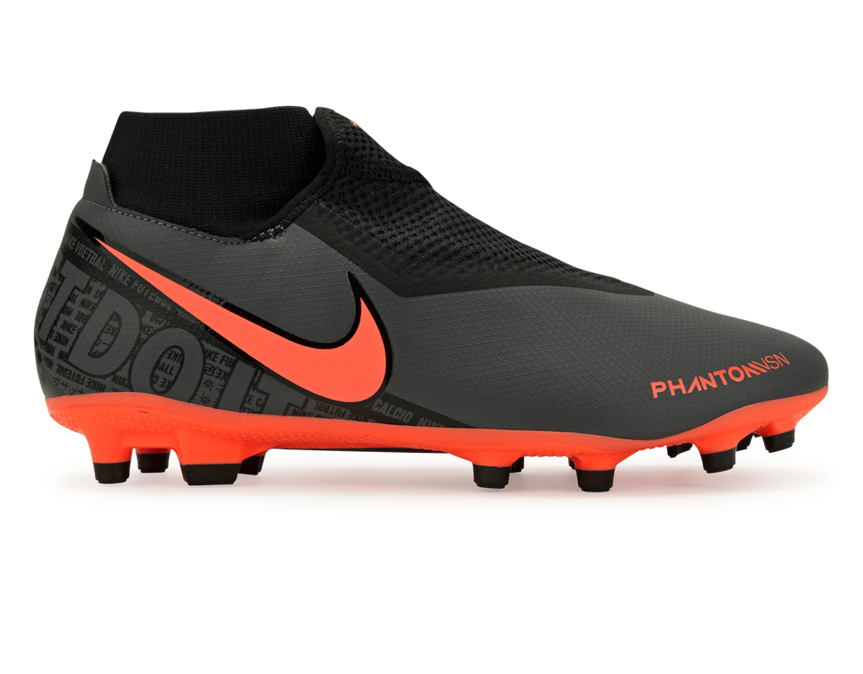 Nike Men's PhantomVSN Academy DF FG/MG Dark Grey/Bright Mango/Black