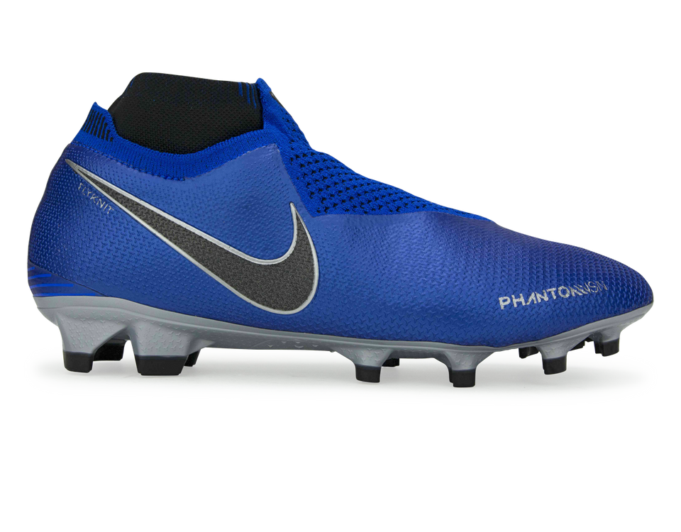 Nike Men's PhantomVSN Elite DF FG Racer Blue/Metallic Silver