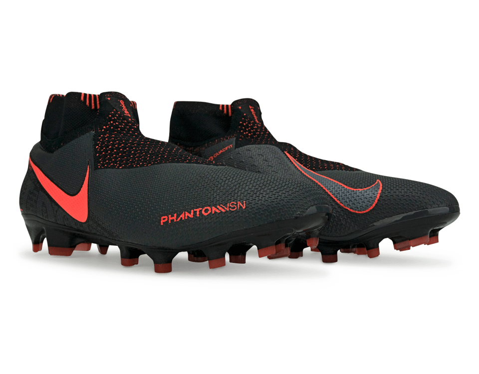 Nike Men's PhantomVSN Elite DF FG/MG Dark Grey/Bright Mango/Black