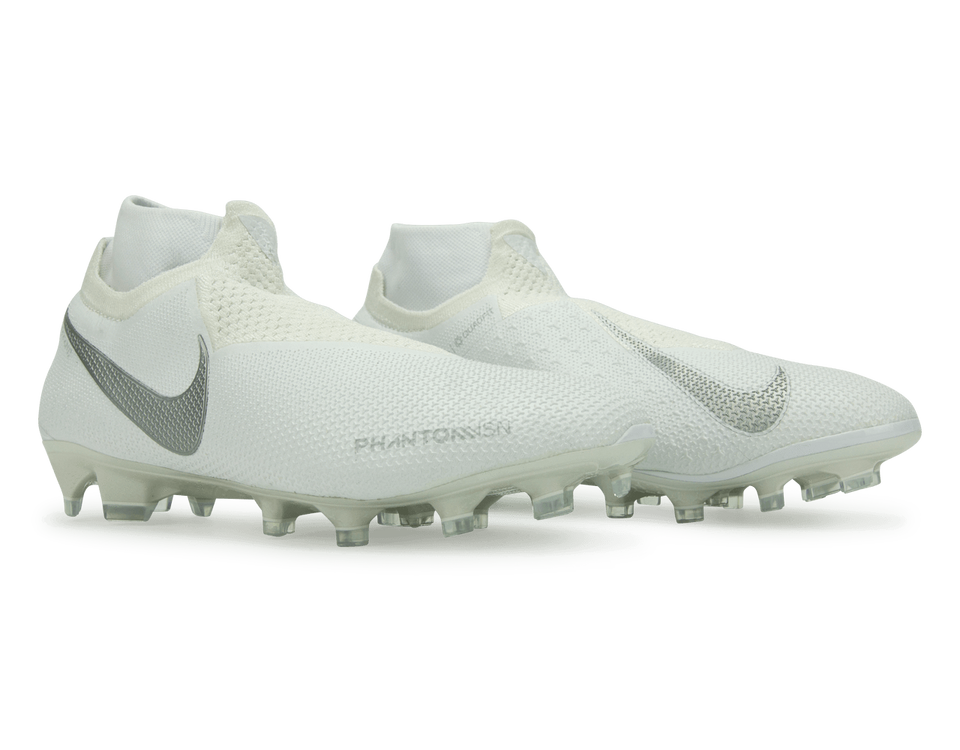 Nike Men's PhantomVSN DF FG White/Metalic Platinum
