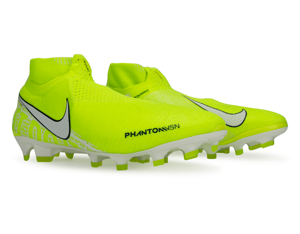 Nike Men's PhantomVSN Elite DF FG Volt/White
