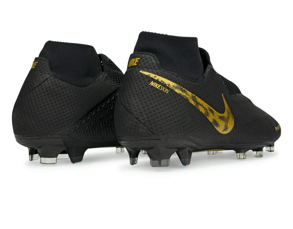 Nike Men's PhantomVSN Pro DF FG Black/Metallic Vivid Gold