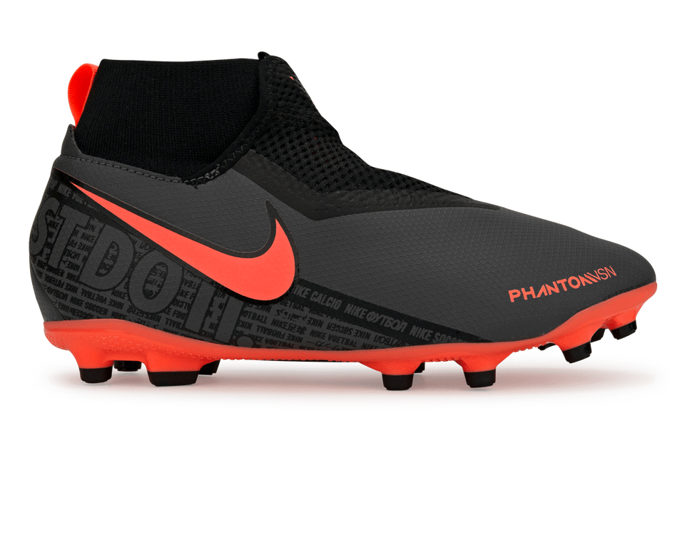 Nike Kids PhantomVSN Academy DF FG/MG Dark Grey/Bright Mango/Black
