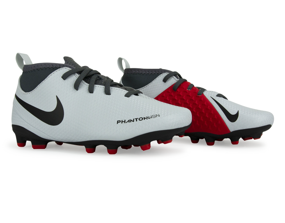 Nike Kids PhantomVSN Club DF FG/MG Pure Platinum/Black/Light Crimson/Dark Grey