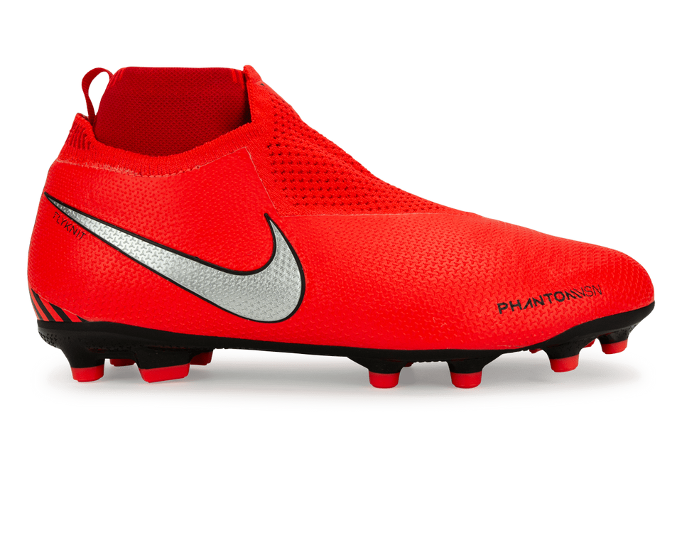 Nike Kids PhantomVSN Game Over Elite DF FG/MG Bright Crimson/Metallic Silver