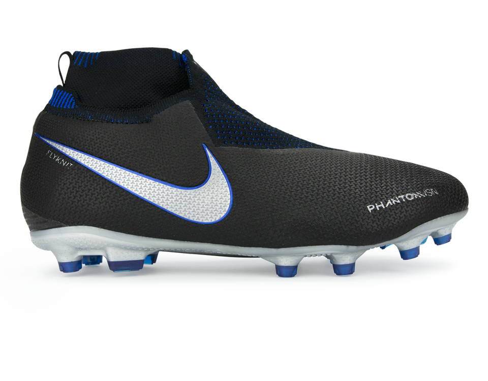Nike Kids PhantomVSN Elite DF FG/MG Black/Metallic Silver/Racer Blue
