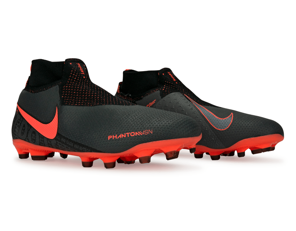 Nike Kids PhantomVSN Elite DF FG/MG Dark Grey/Bright Mango/Black