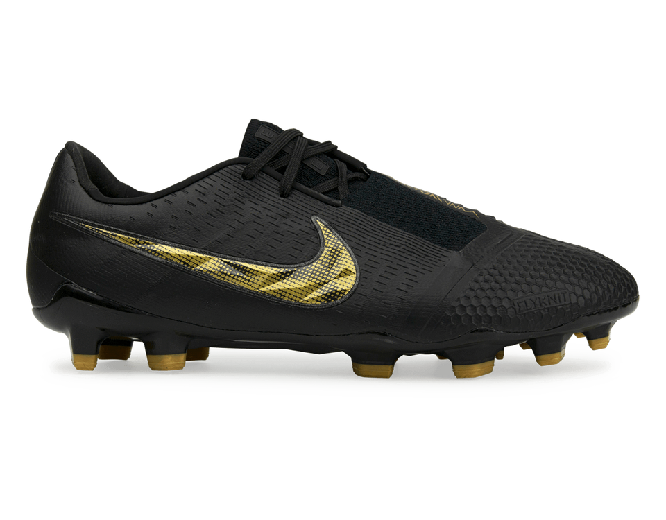 Nike Men's PhantomVNM Elite FG Black/Metallic Vivid Gold