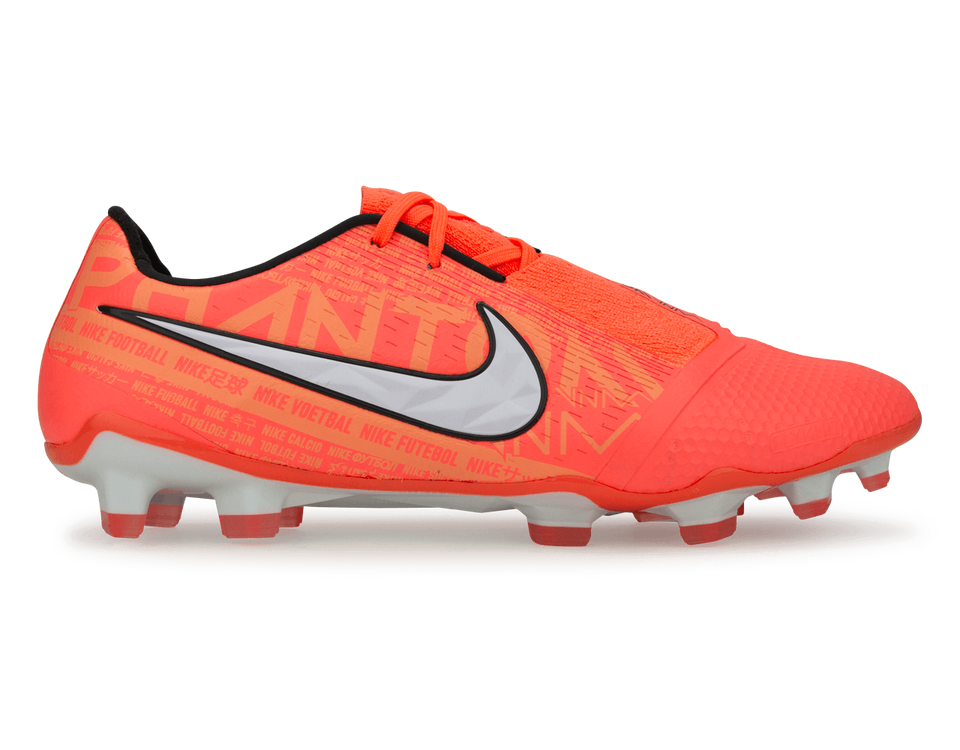 Nike Men's PhantomVNM Elite FG Bright Mango/White/Orange Pulse