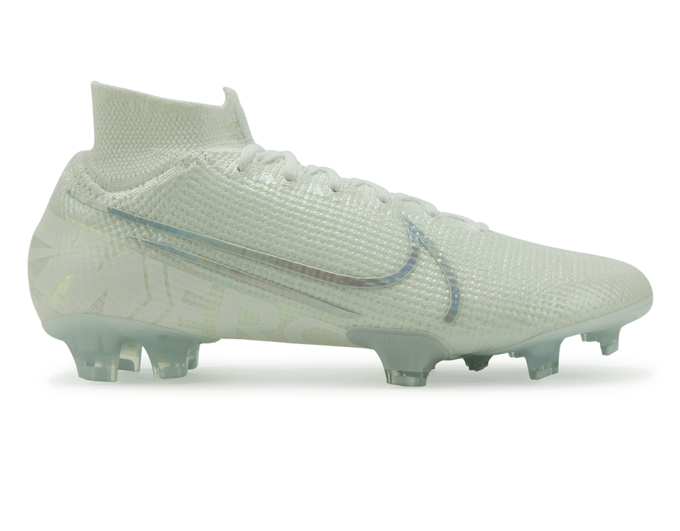 Nike Men's Mercurial Superfly 7 Elite FG White/Metallic Platinum