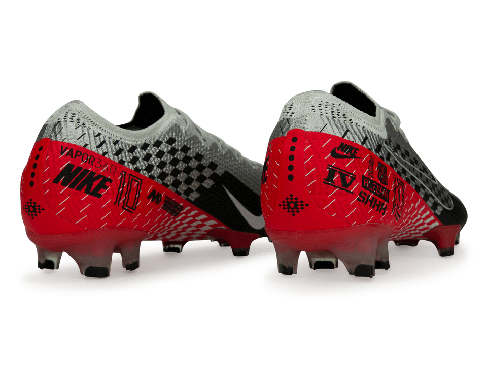 Nike Men's Mercurial Vapor 13 Elite Neymar Jr FG Chrome/Black/Red