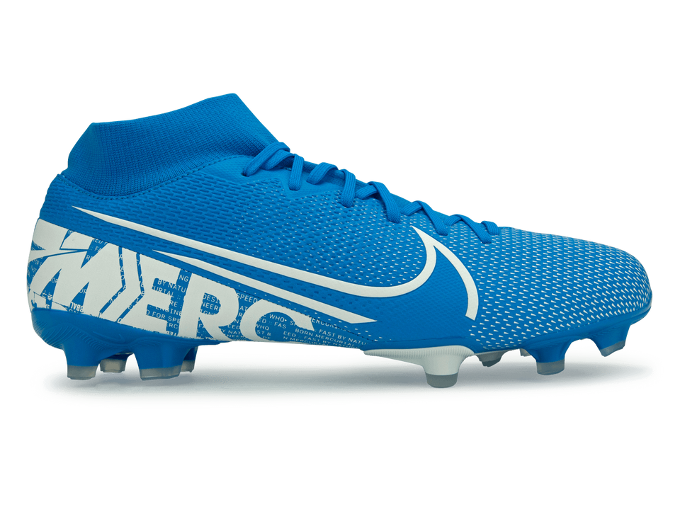 Nike Men's Mercurial Superfly 7 Academy FG/MG Blue Hero/White