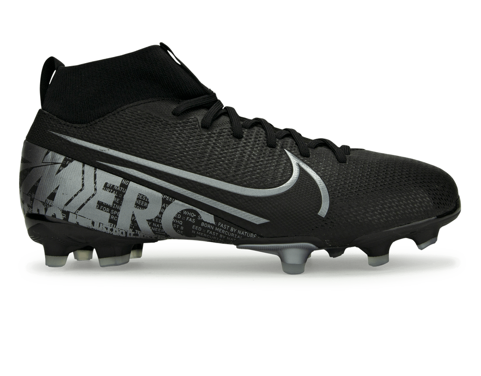 Nike Kids Mercurial Superlfy 7 Academy FG/MG Black/Metalic Cool Grey