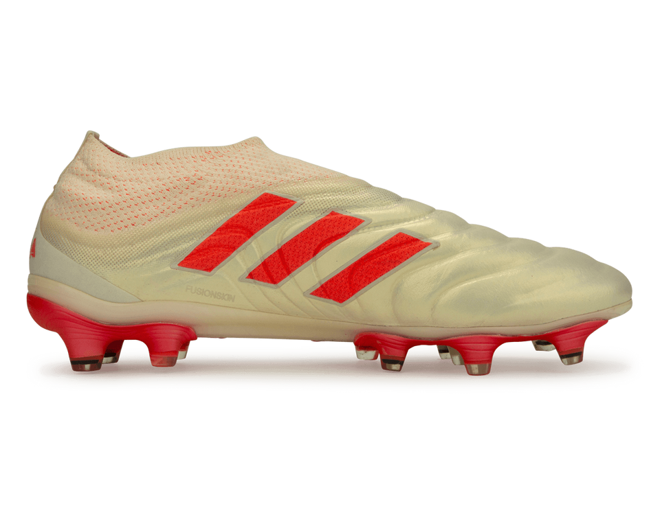 adidas Men's Copa 19+ FG Off White/Solar Red