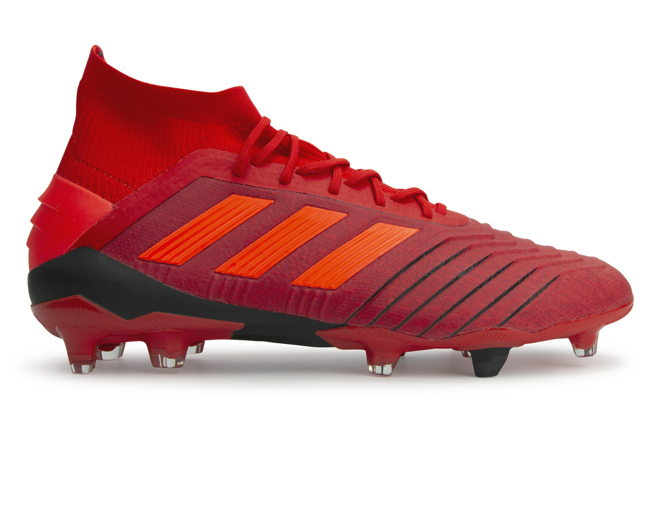 adidas Men's Predator 19.1 FG Active Red/Solar Red