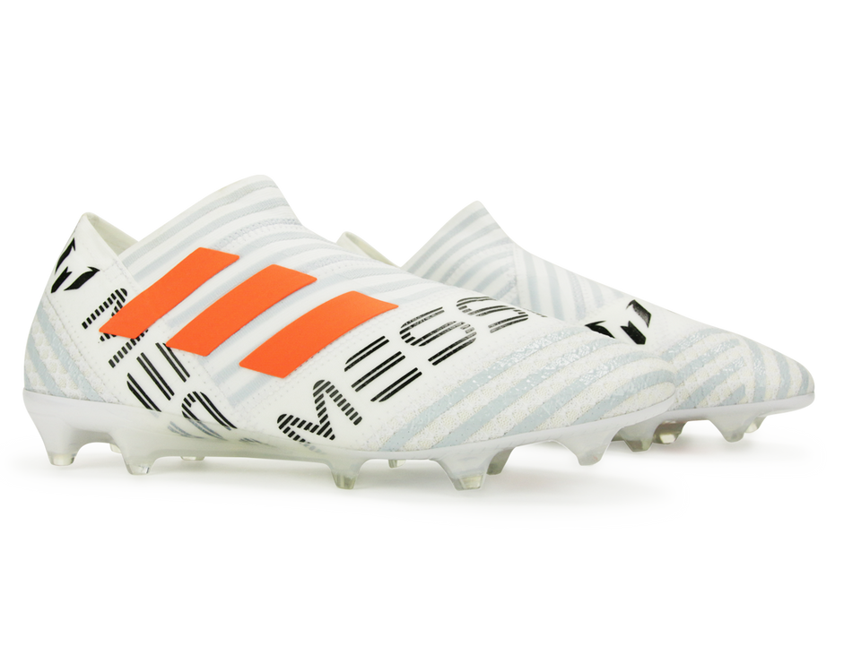 adidas Men's Nemeziz Messi 17+ FG White/Solar Orange/Clear Grey