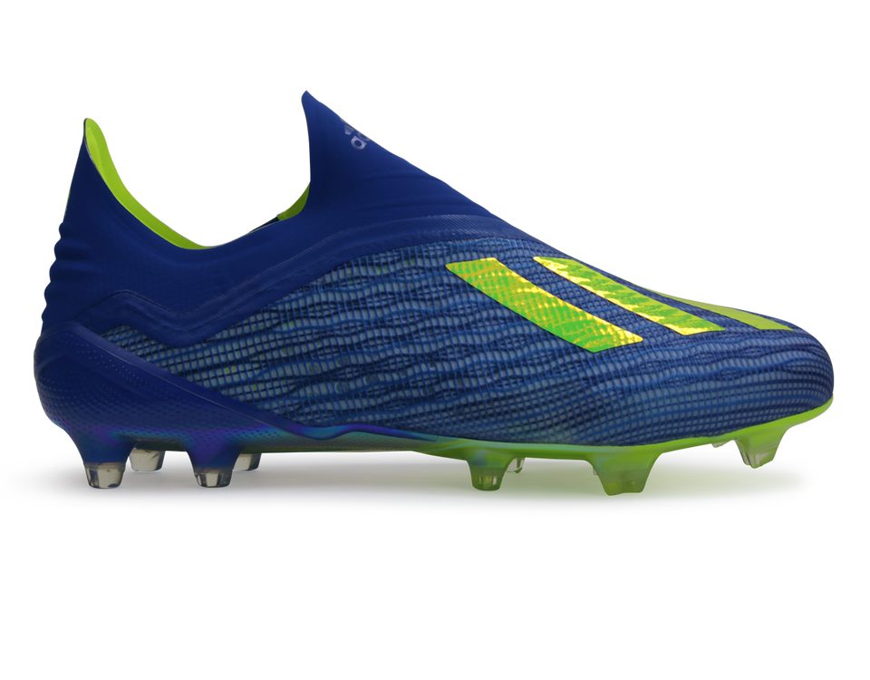 adidas Men's X 18+ FG Footblue/Solar Yellow/Core Black