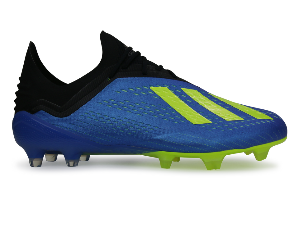 adidas Men's X 18.1 FG Footblue/Solar Yellow/Core Black