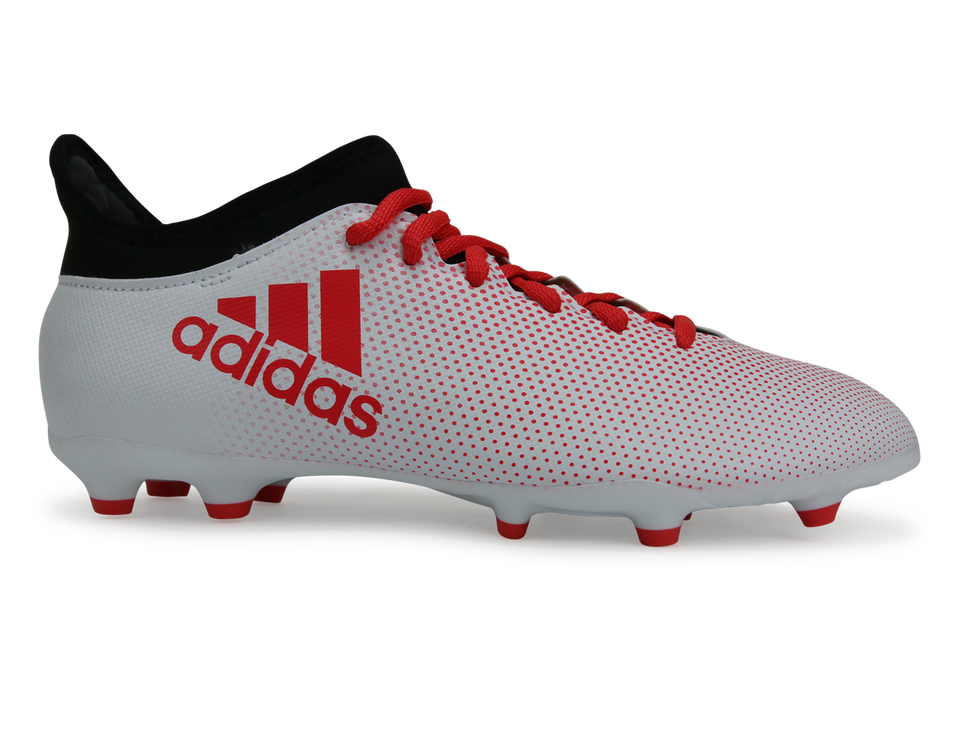 adidas Kids X 17.3 FG White/Real Coral/Core Black
