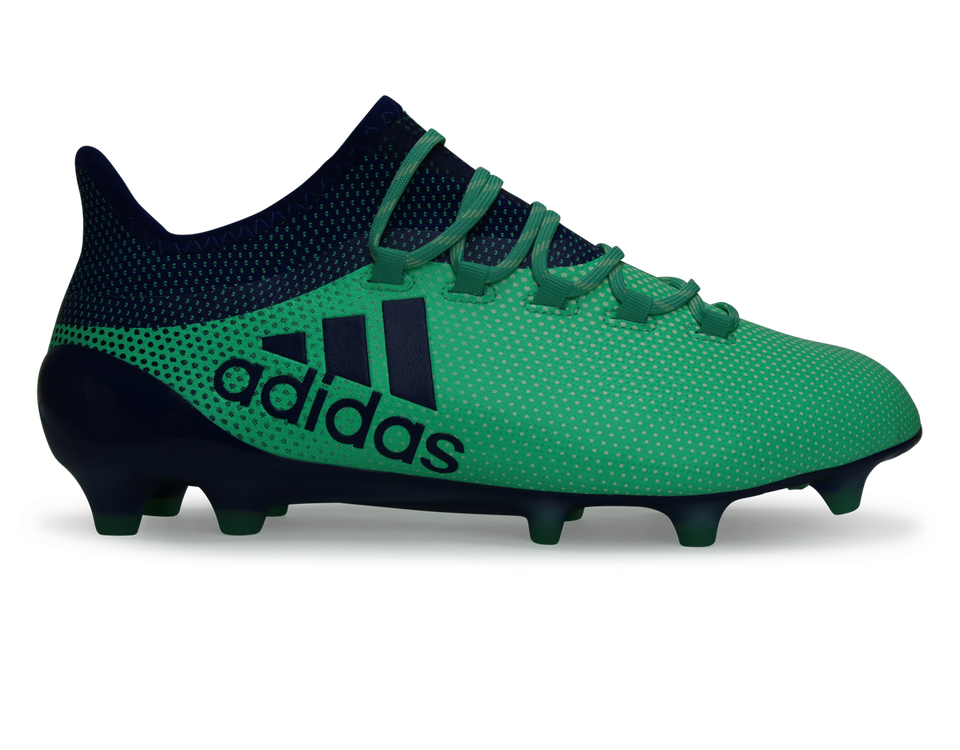 adidas Men's X 17.1 FG Aero Green/Uni Ink/HiRes Green