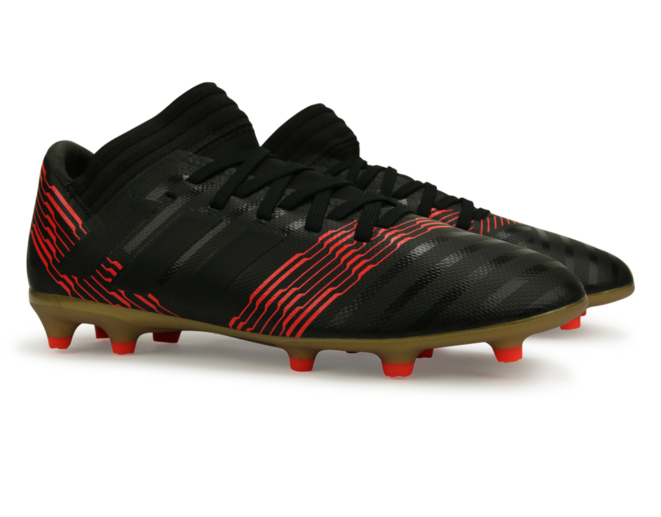 adidas Kids Nemeziz 17.3 FG Core Black/Solar Red