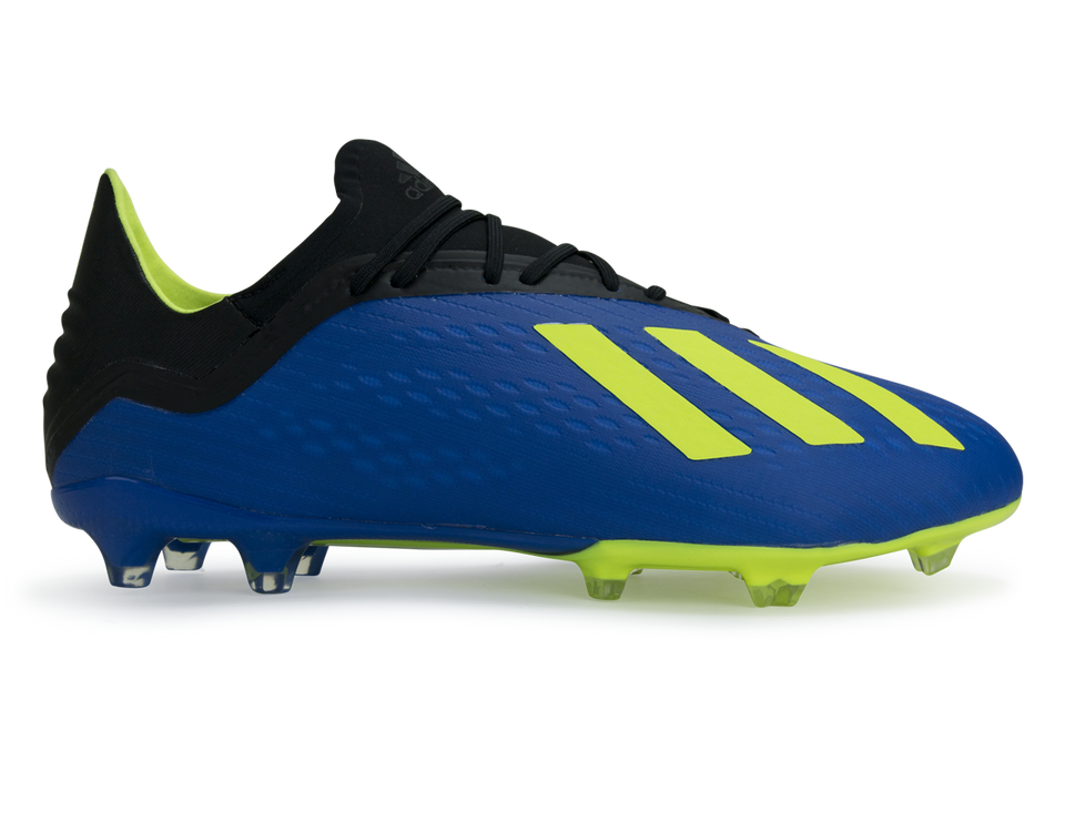 adidas Men's X 18.2 FG Footblue/Solar Yellow/Core Black
