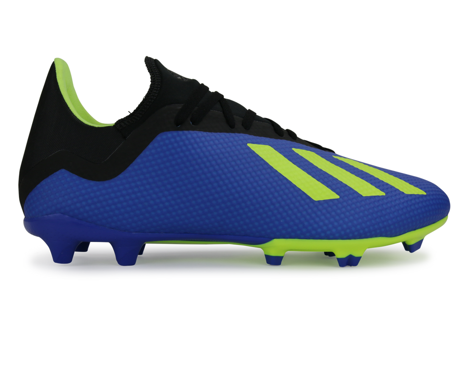 adidas Men's X 18.3 FG Footblue/Solar Yellow/Core Black