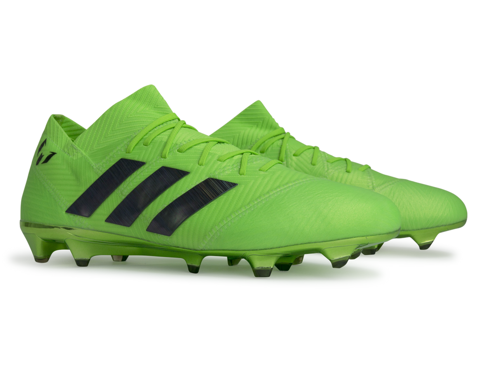 adidas Men's Nemeziz Messi 18.1 FG Solar Green/Core Black