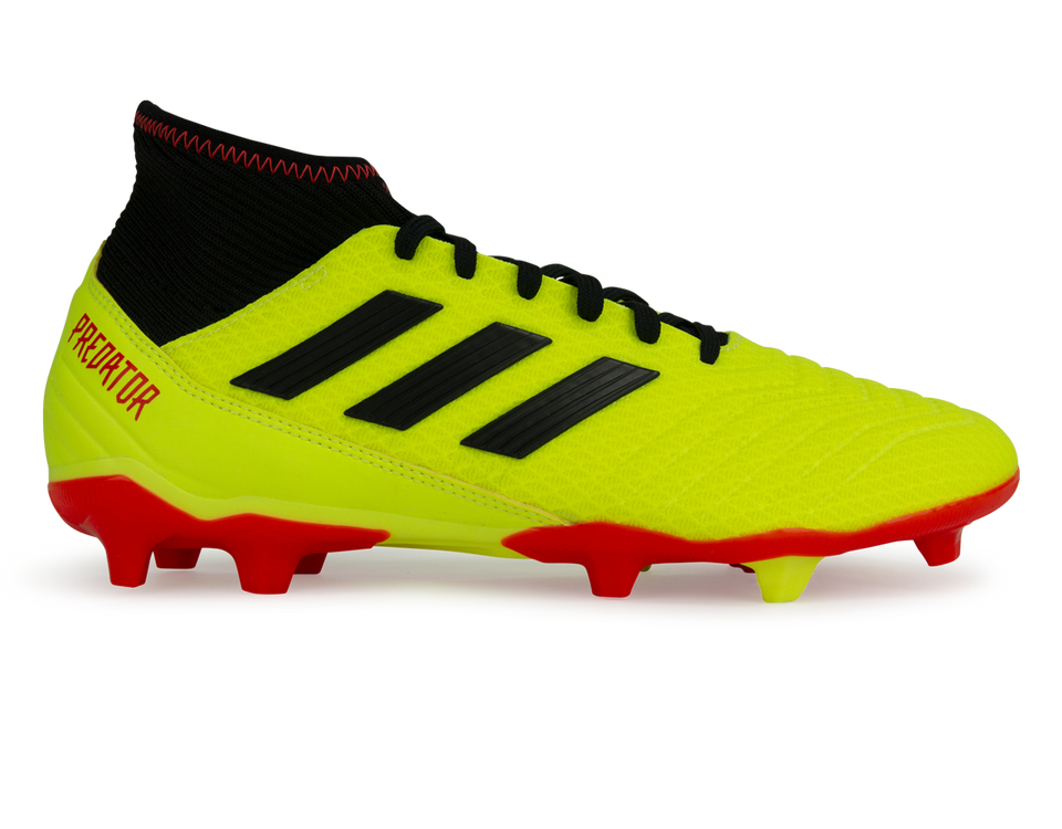 adidas Men's Predator 18.3 FG Solar Yellow/Core Black/Solar Red