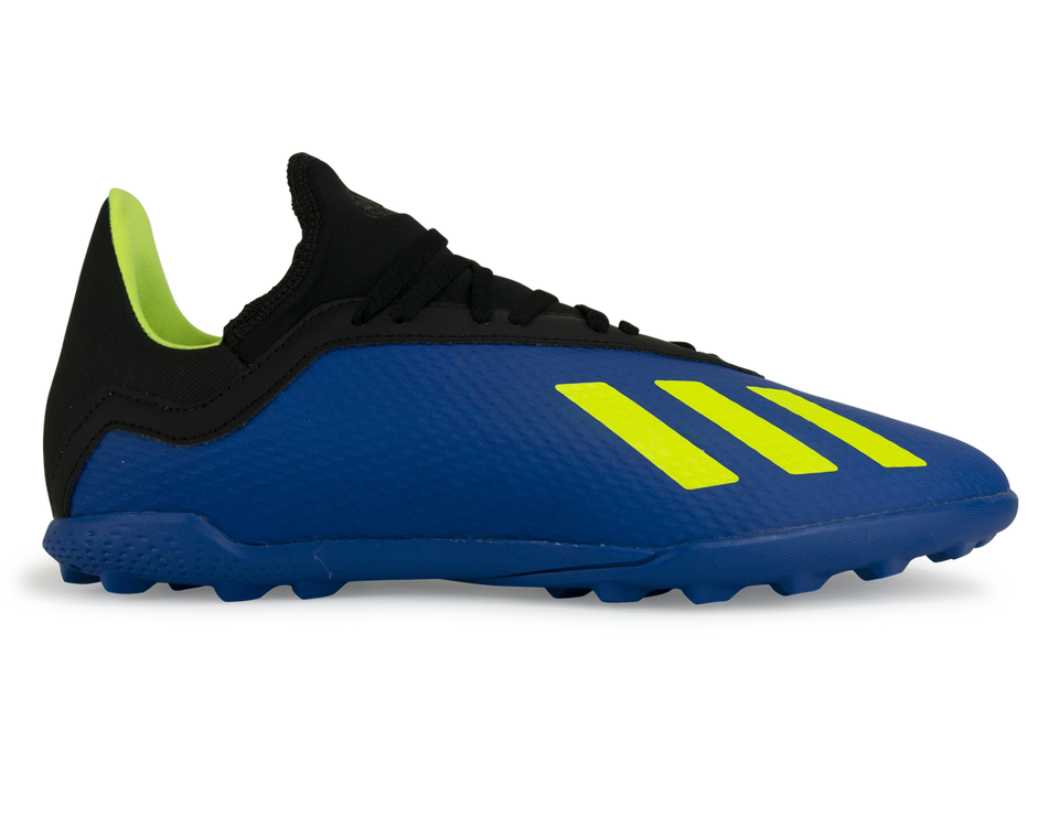 adidas Kids X 18.3 Turf Soccer Shoes Footblue/Solar Yellow/Core Black