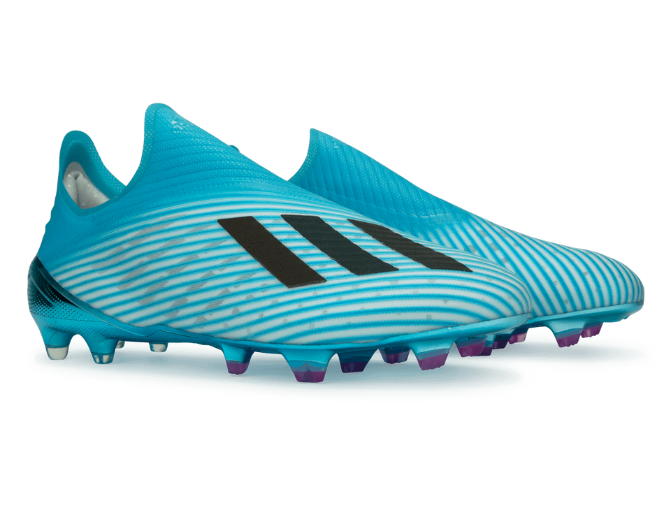 adidas Men's X 19+ FG Bright Cyan/Core Black/Shock Pink