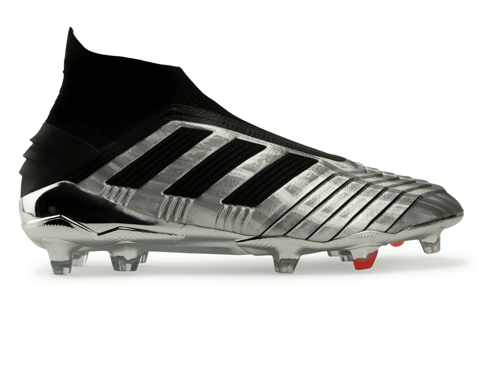 adidas Men's Predator 19+ FG Silver Metallic/Core Black