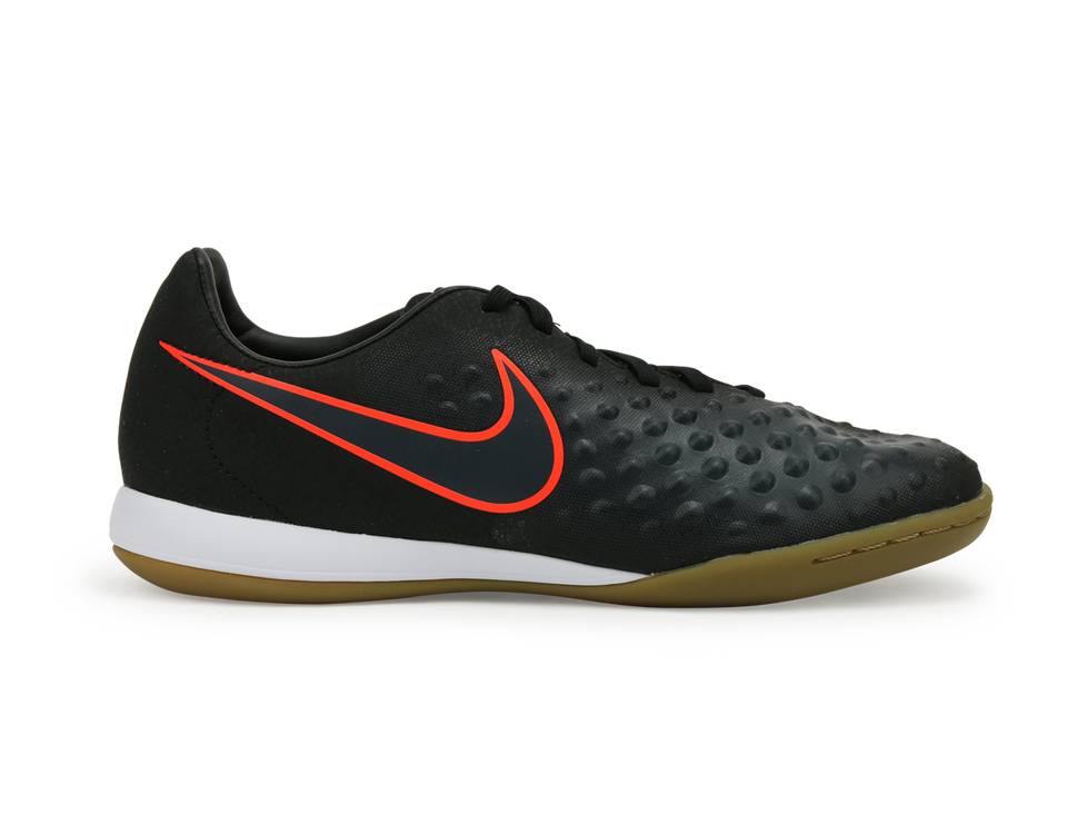 Nike Kids MagistaX Opus Indoor Soccer Shoes Black/TotalCrimson